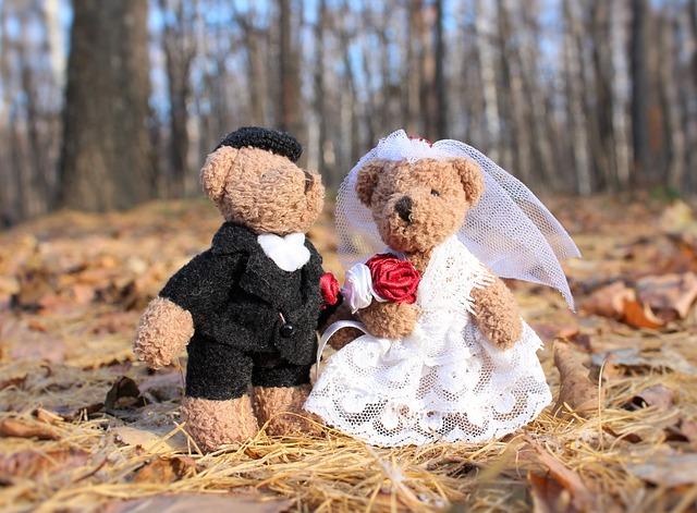 svatební medvídci