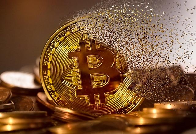 rozpadající se Bitcoin